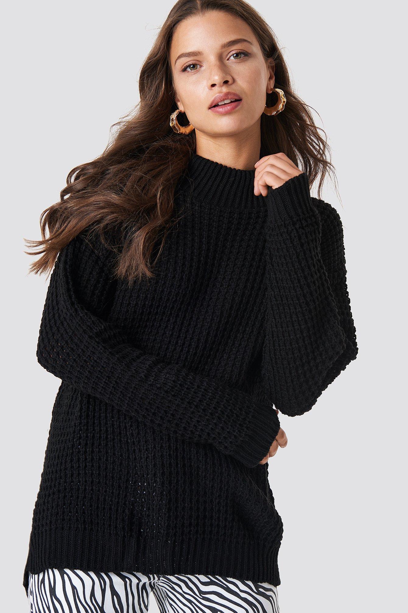 Overlap Back Slit Knitted Jumper NA-KD.COM