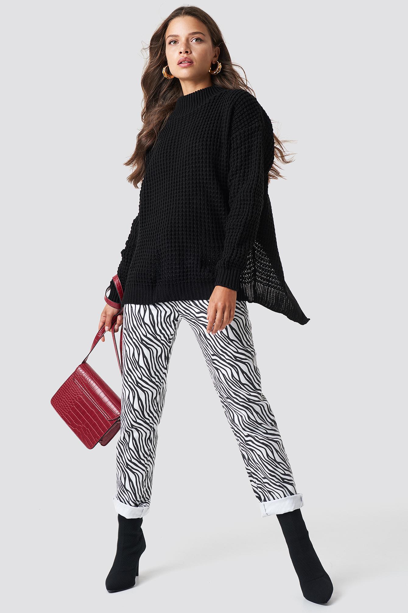 Sweter z kopertowym tyłem NA-KD.COM