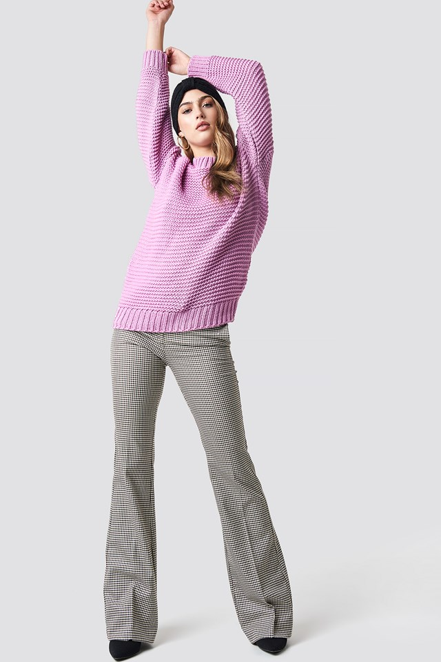 Oversized Knitted Jumper Pink