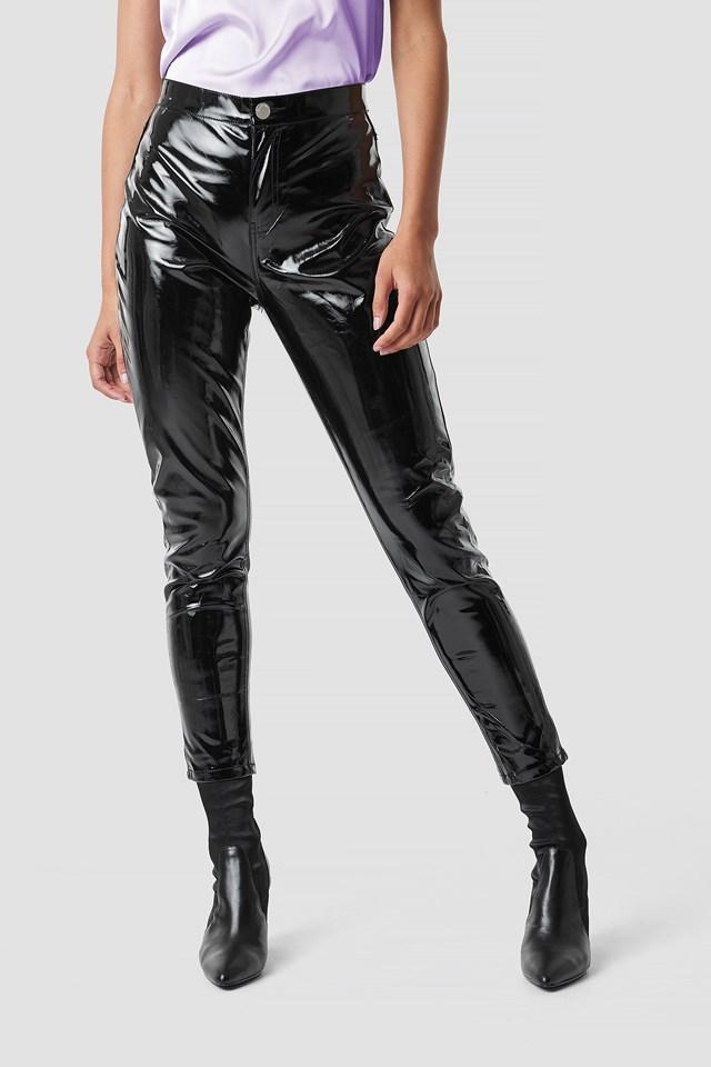 Patent Straight Pants NA-KD.COM