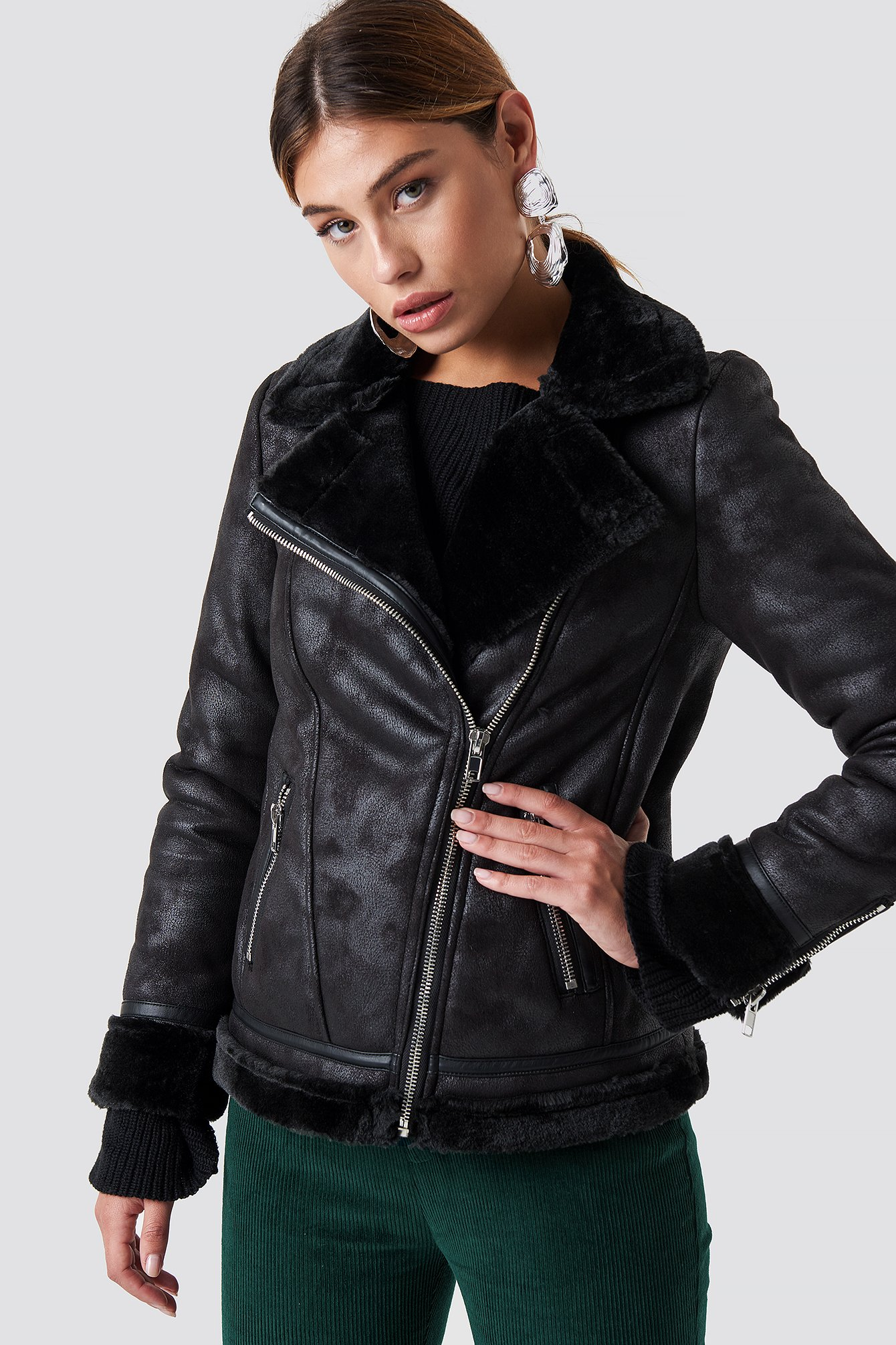 glamorous -  Perfect Bike Jacket - Black