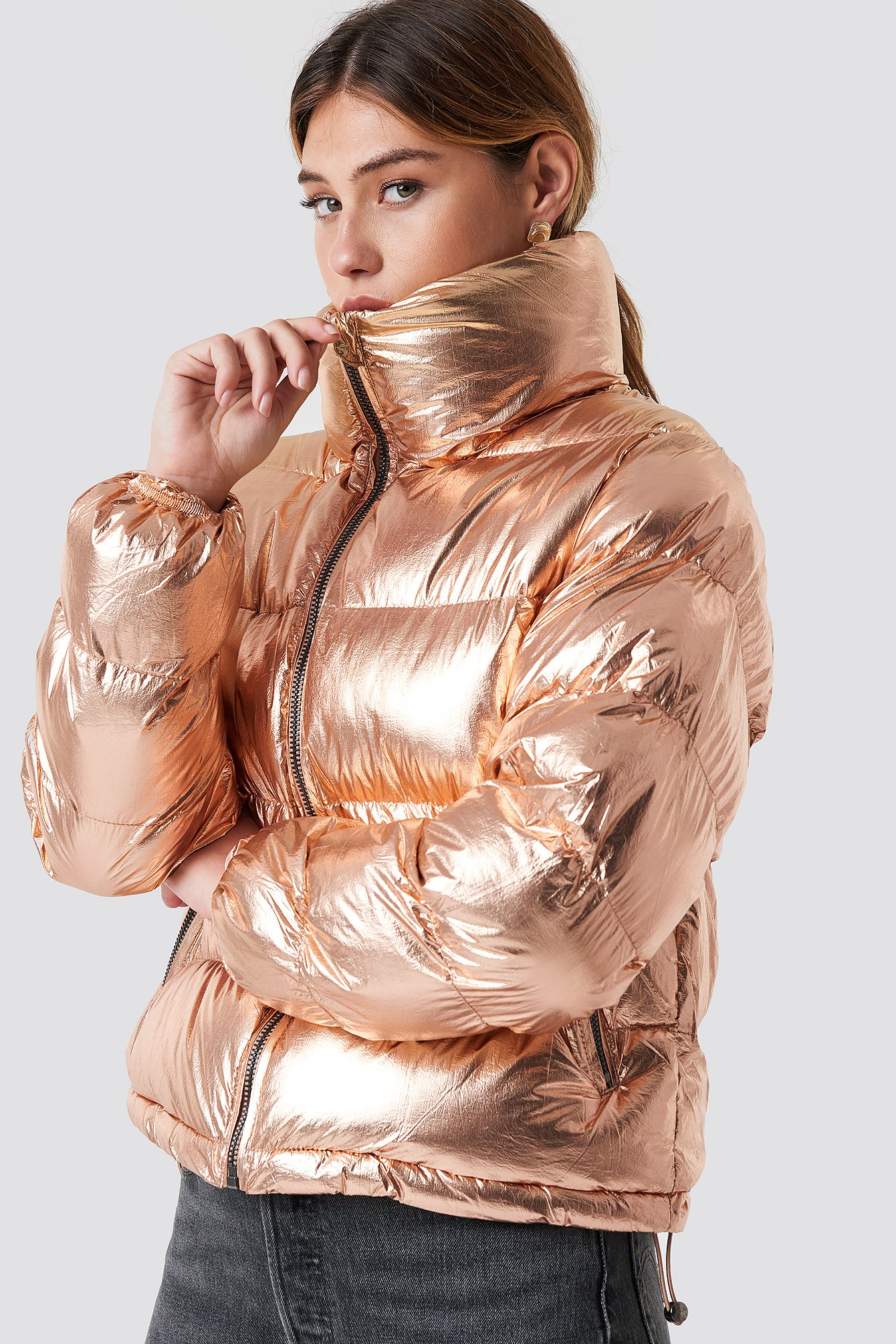 glamorous -  Puffy Short Padded Jacket - Gold
