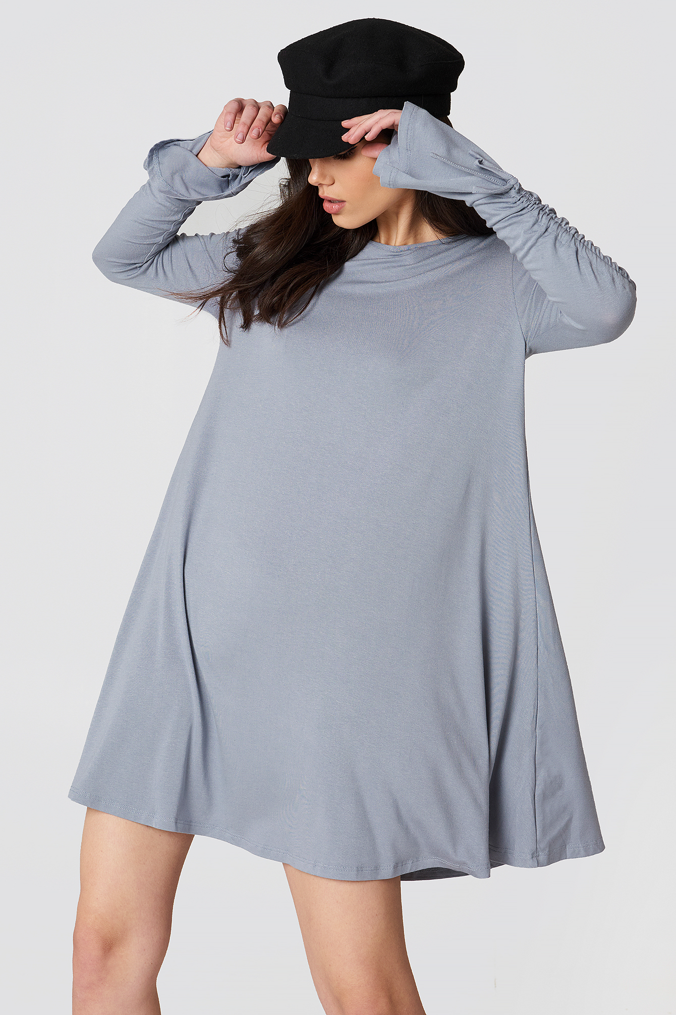 Ruched Sleeve Dress NA-KD.COM