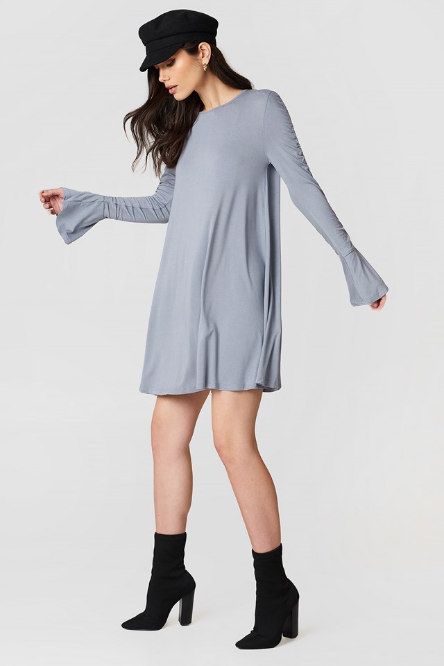 Ruched Sleeve Dress NA-KD.COM