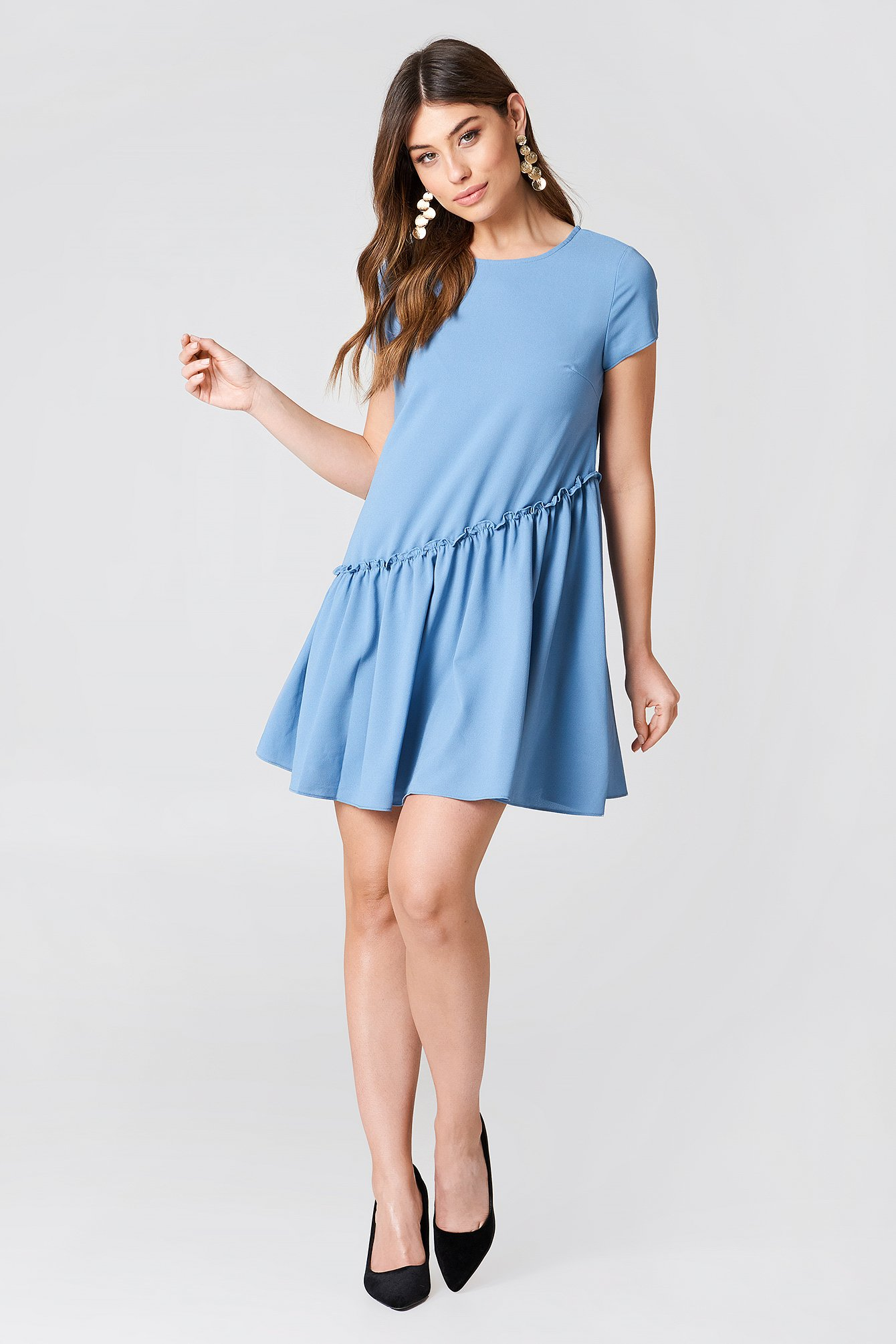 Ruffle Detail Mini Dress NA-KD.COM
