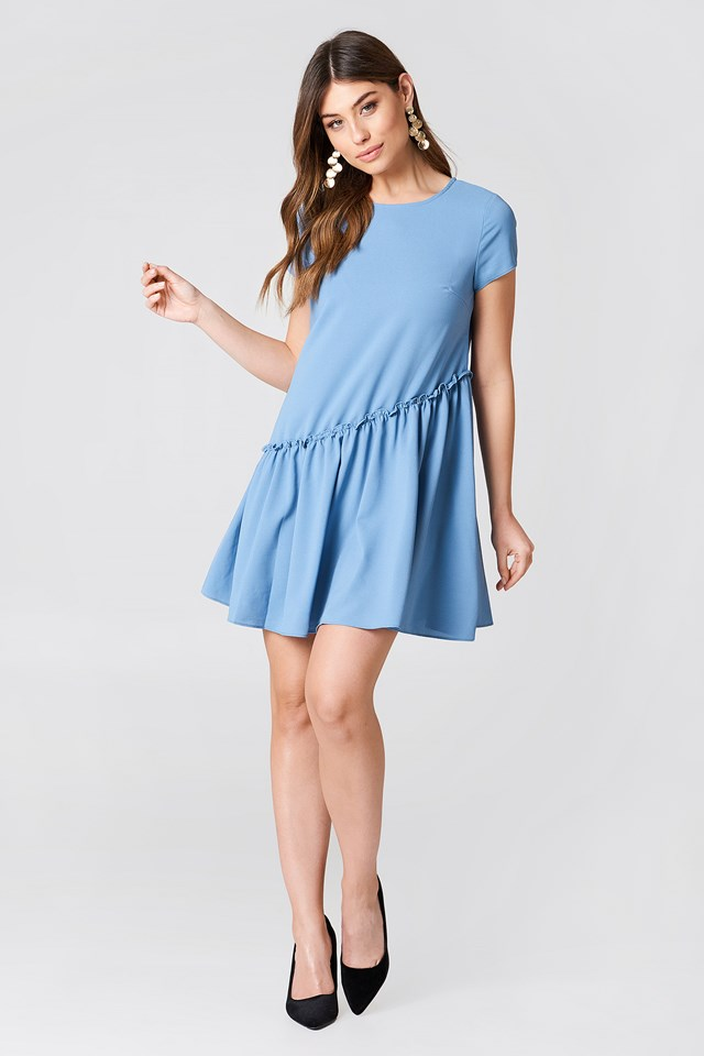 Ruffle Detail Mini Dress NA-KD.COM