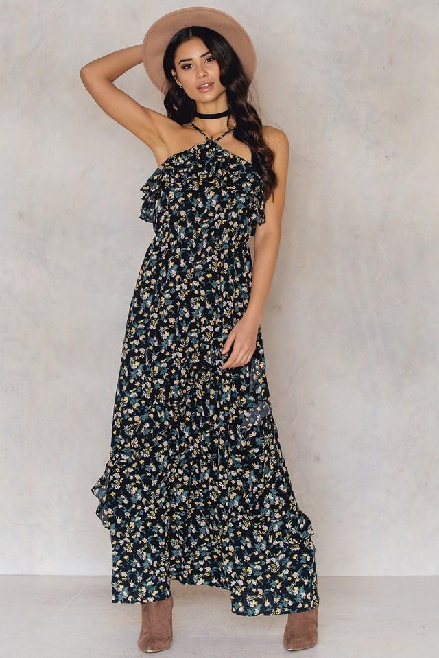 Ruffle Maxi Dress NA-KD.COM