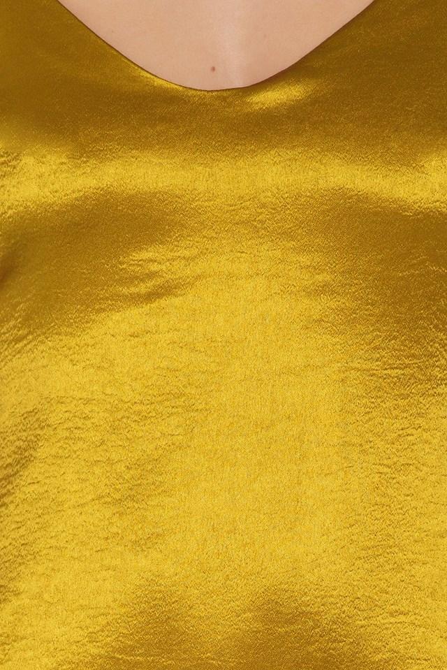 Satin Cami Dress Acid Yellow