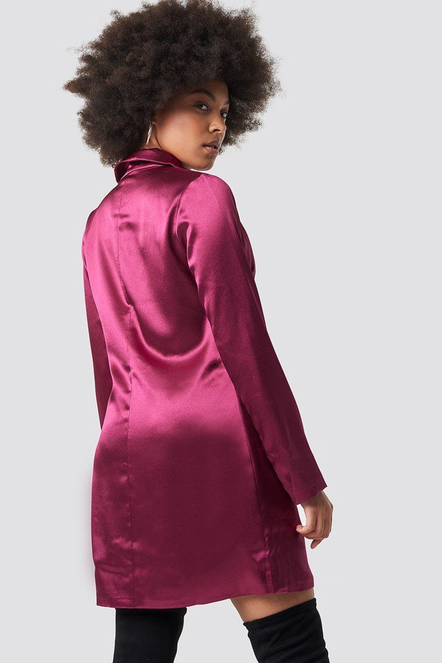 Satin Suit Dress Mulberry Satin