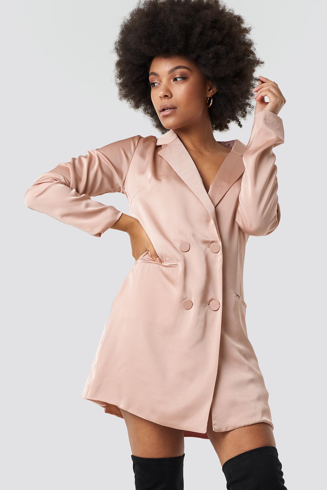 glamorous -  Satin Suit Dress - Pink