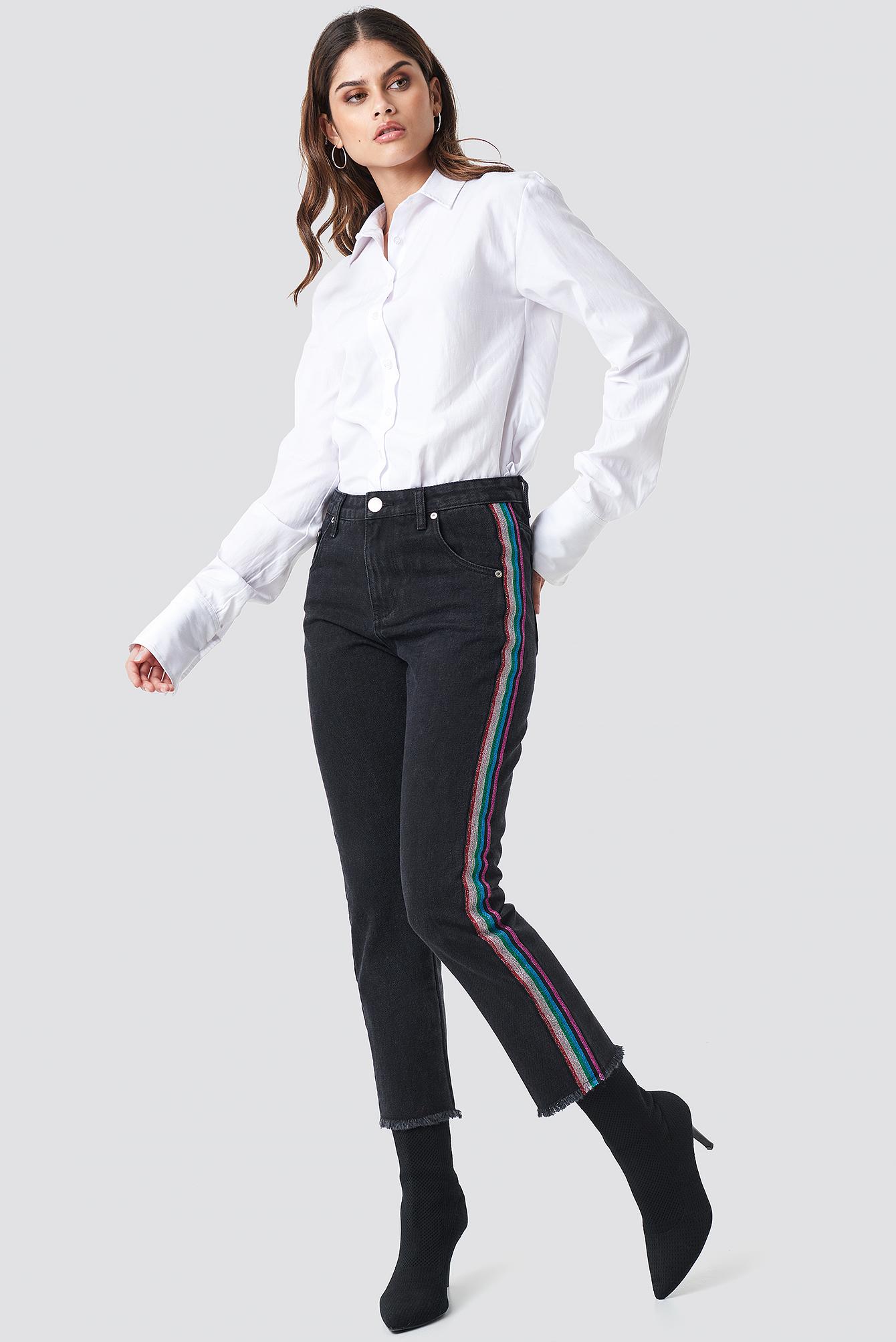 Straight Black Jeans NA-KD.COM