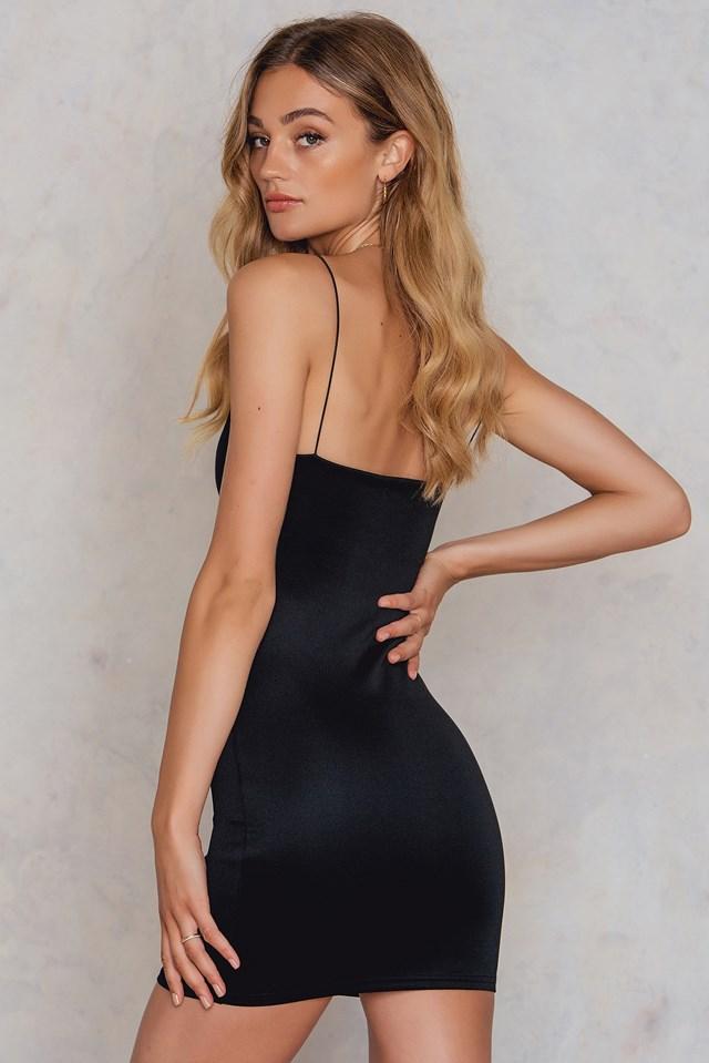 Strap Slip Dress Black