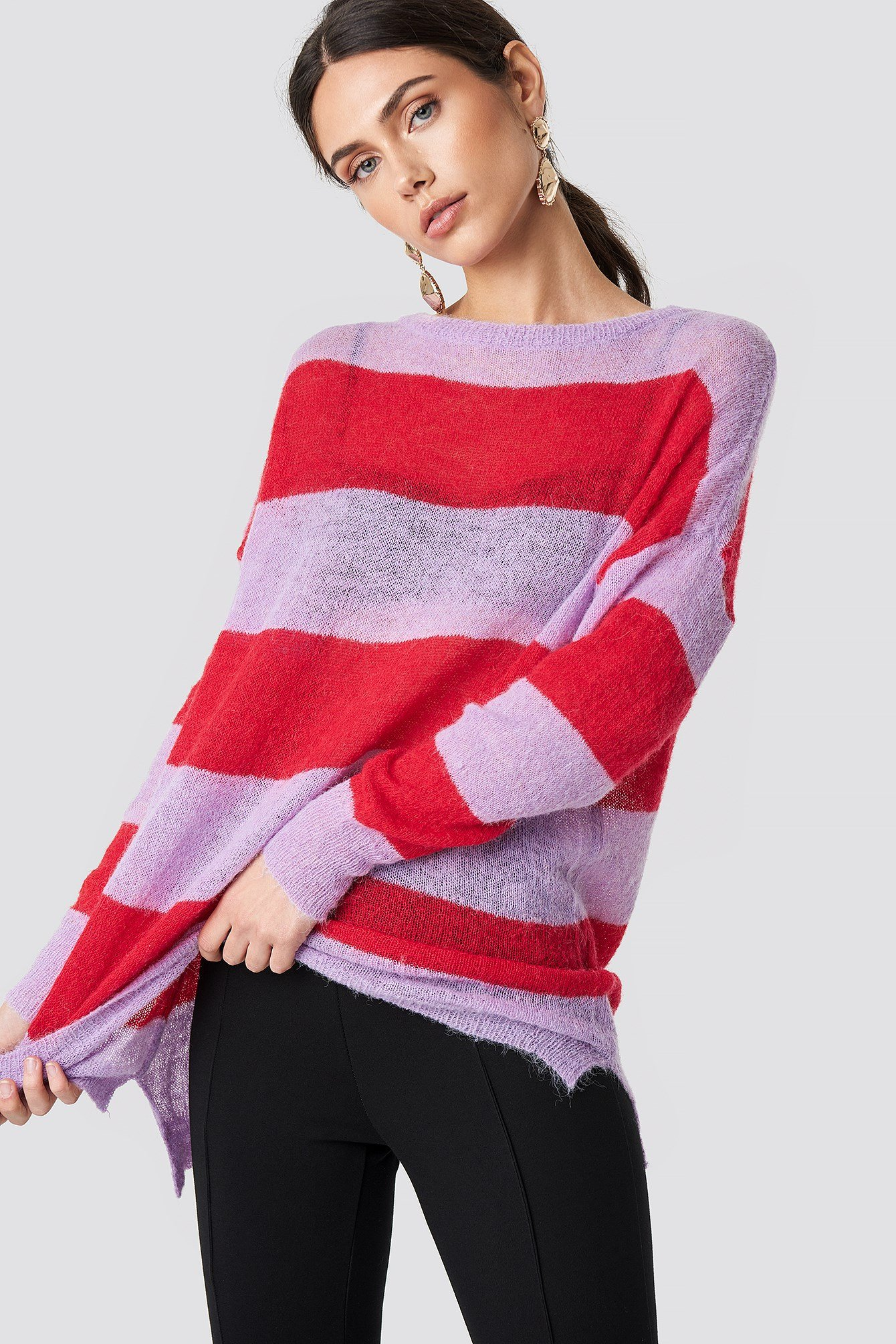 Striped Knit Sweater NA-KD.COM