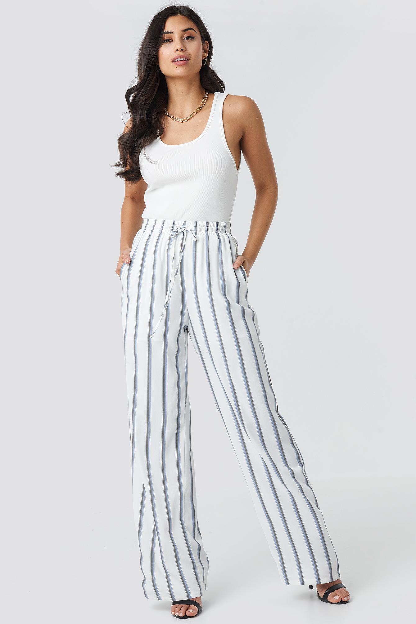 Striped Wide Pants NA-KD.COM