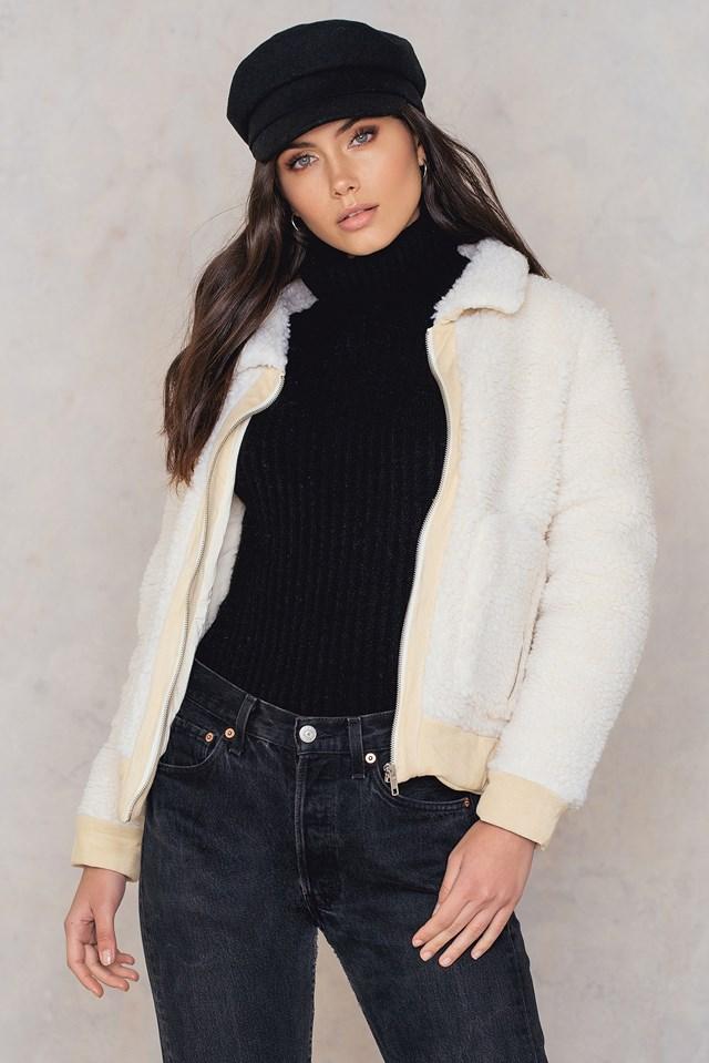 Teddy Collar Jacket NA-KD.COM