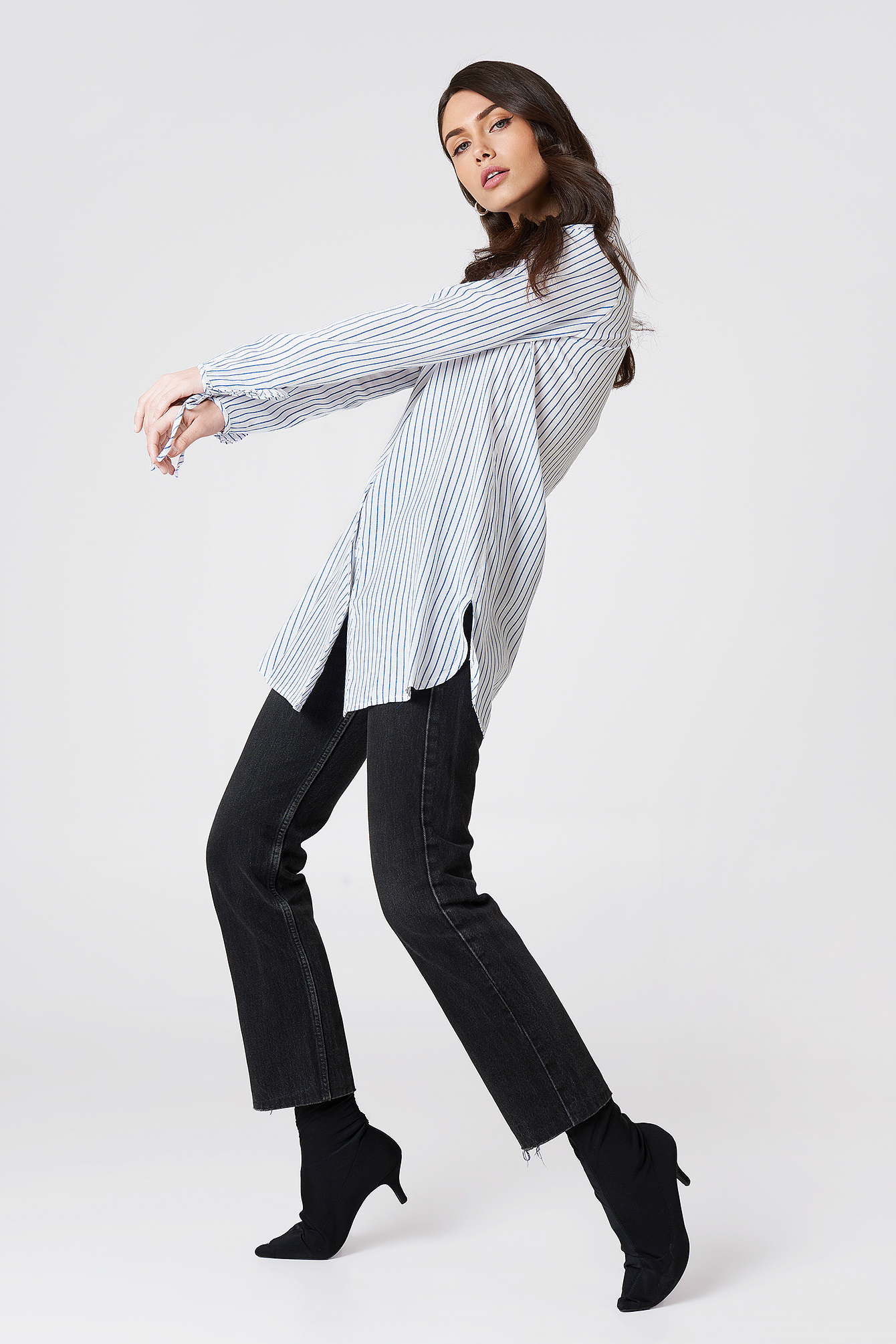 Tie Sleeve Long Shirt NA-KD.COM