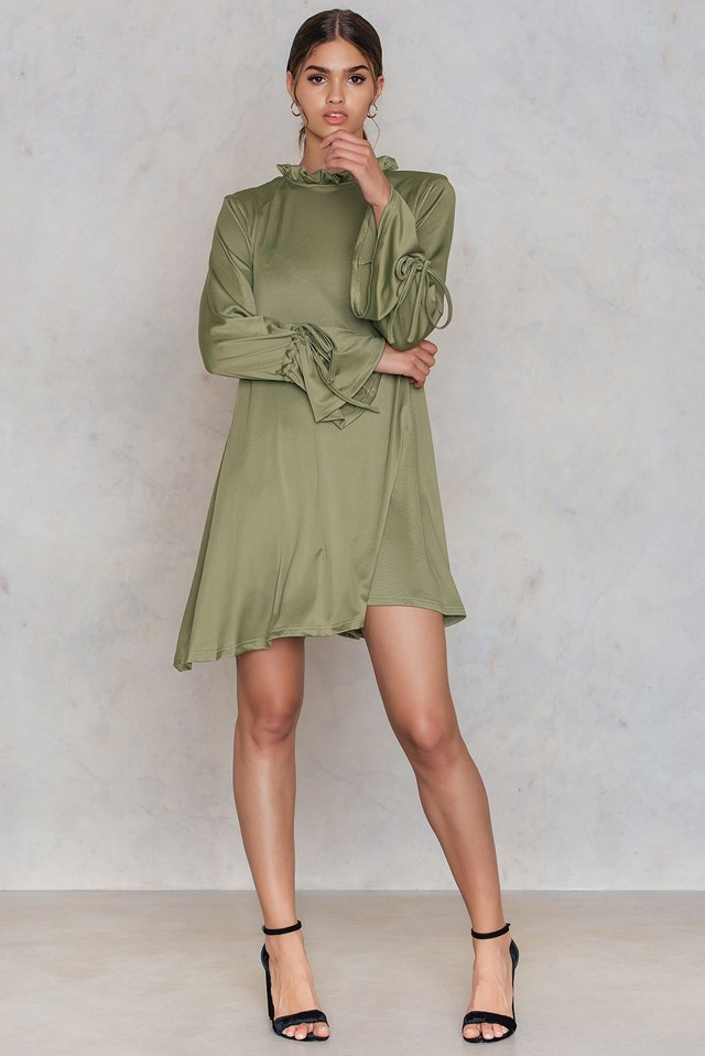 Tie Sleeve Oversized Tunic Sage