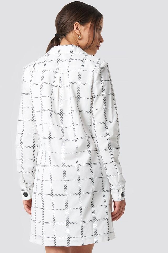 Topstitch Check Mini Dress NA-KD.COM