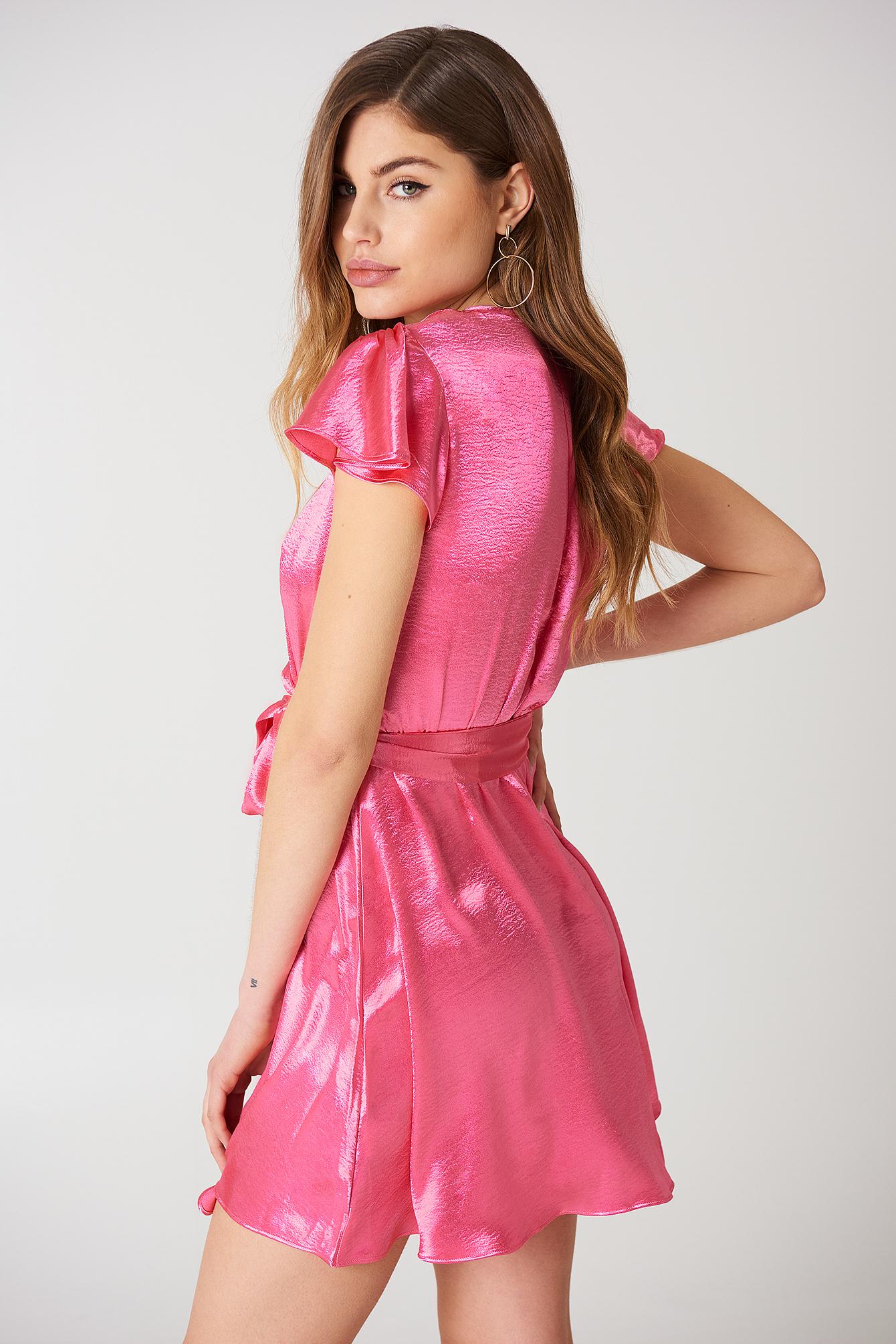 V Front Mini Dress NA-KD.COM