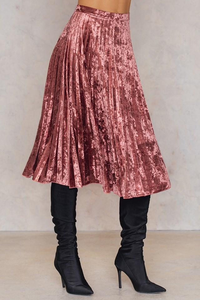 Velvet Pleated Skirt NA-KD.COM