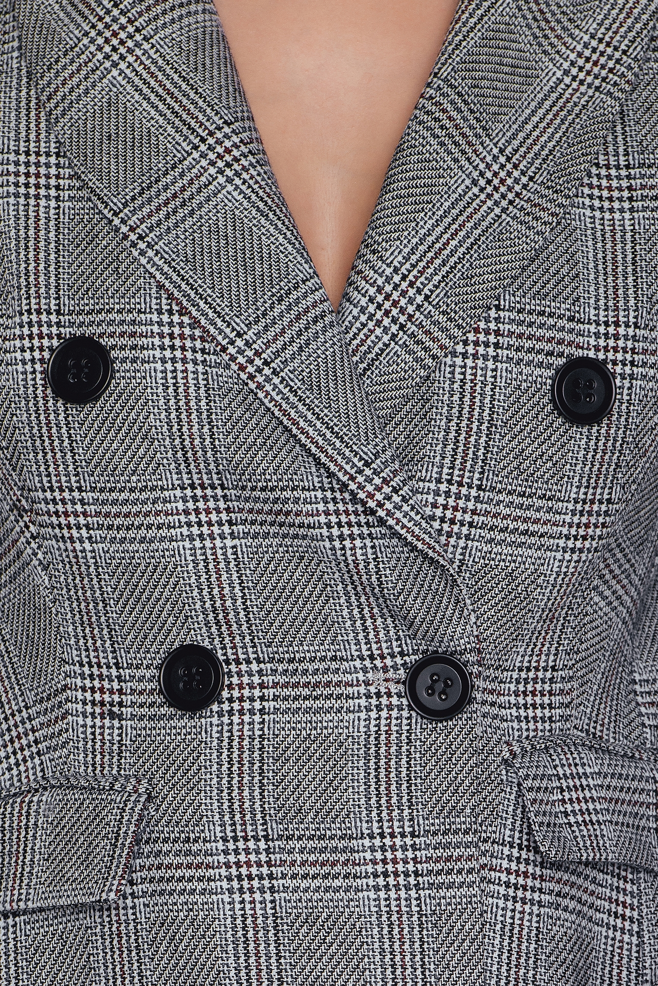 Check Double Button Blazer NA-KD.COM
