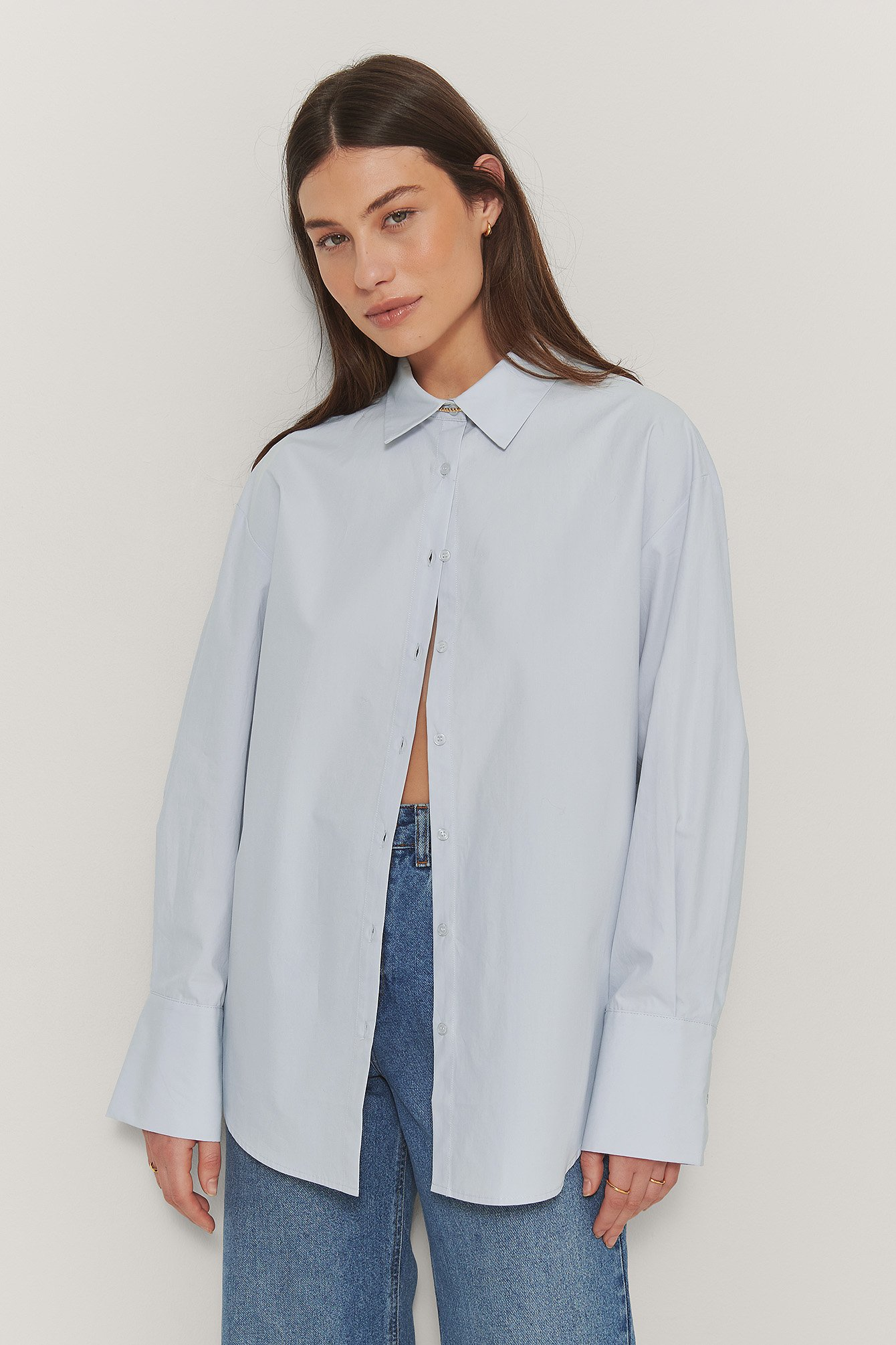 Light Blue Oversize Skjorte