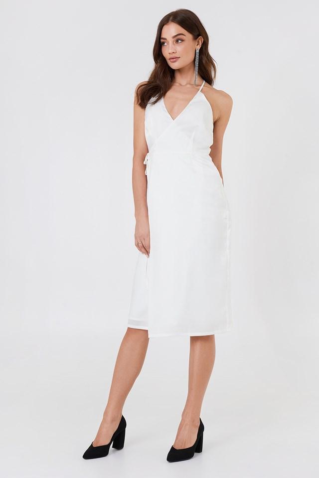 Haley Wrap Dress White