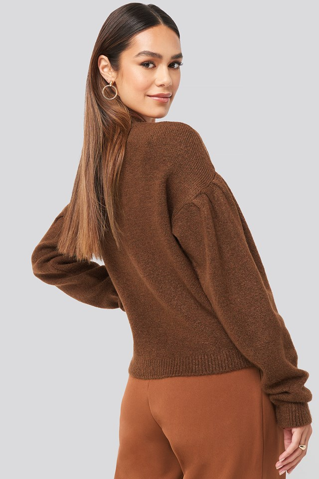 Drop Shoulder Pullover Brown