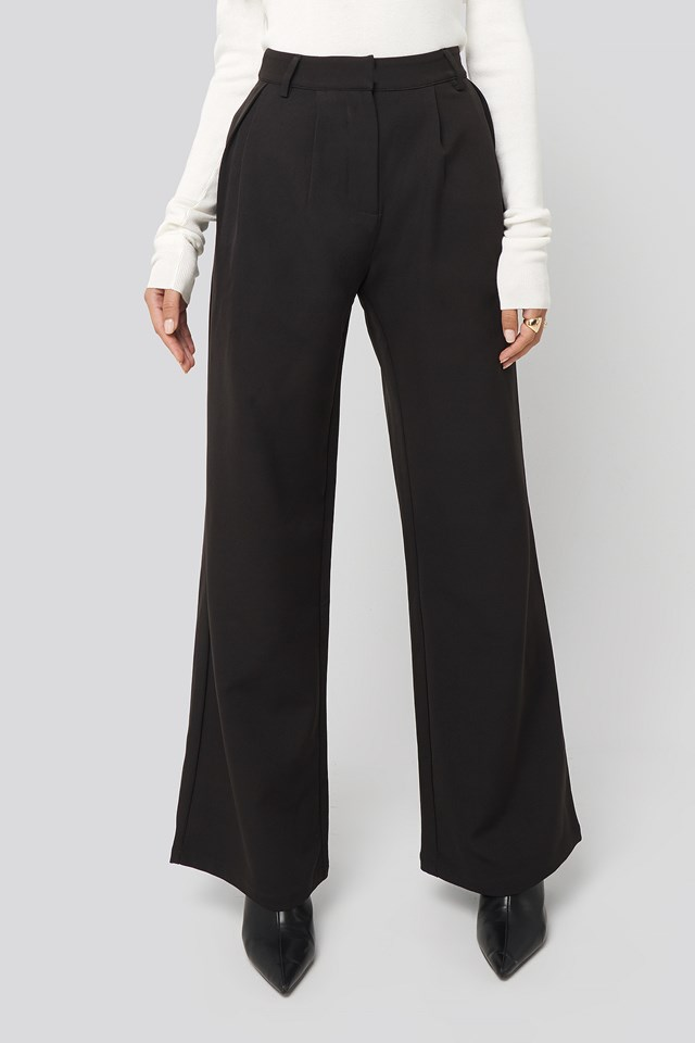 Flowy Tailored Pants Black