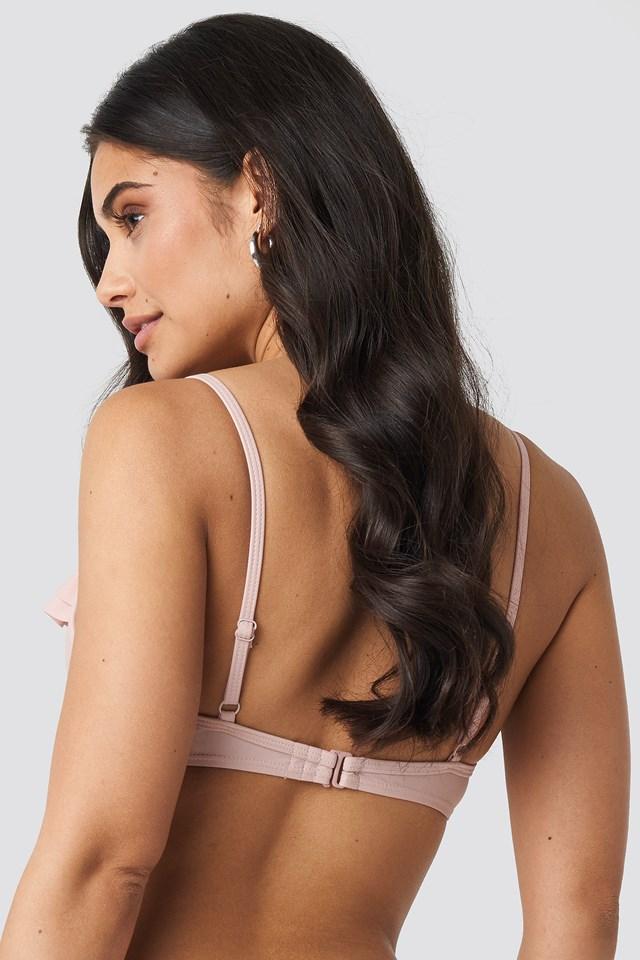 Ruffled Cup Bikini Top Blush