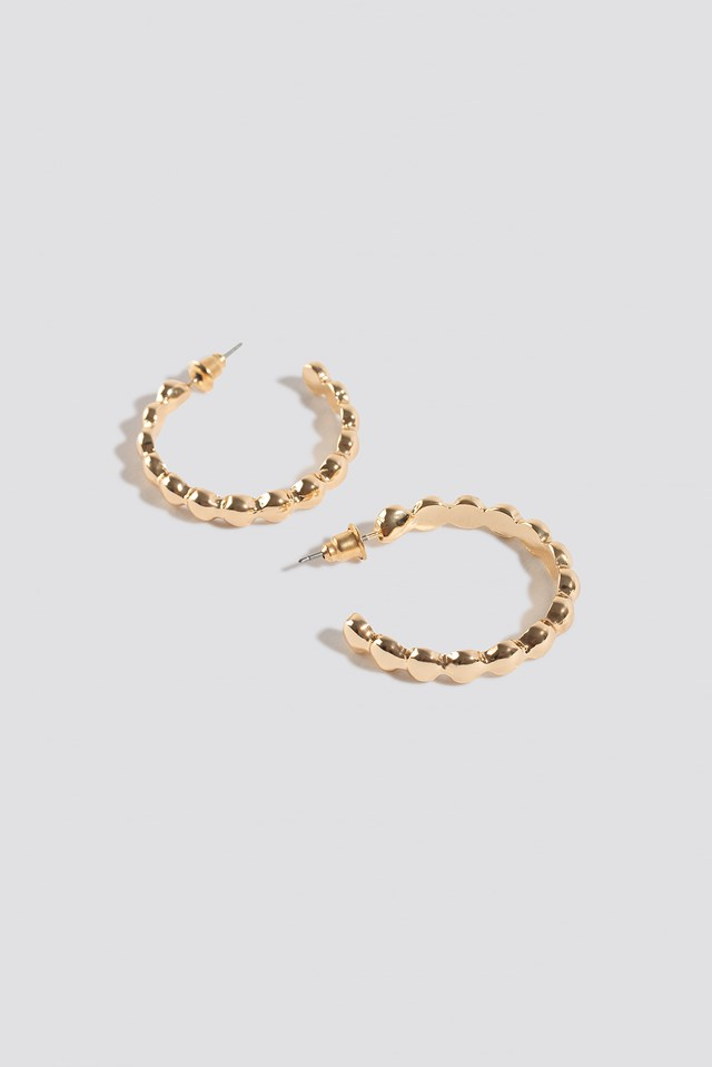 Bubbly Small Hoop Earrings Gold