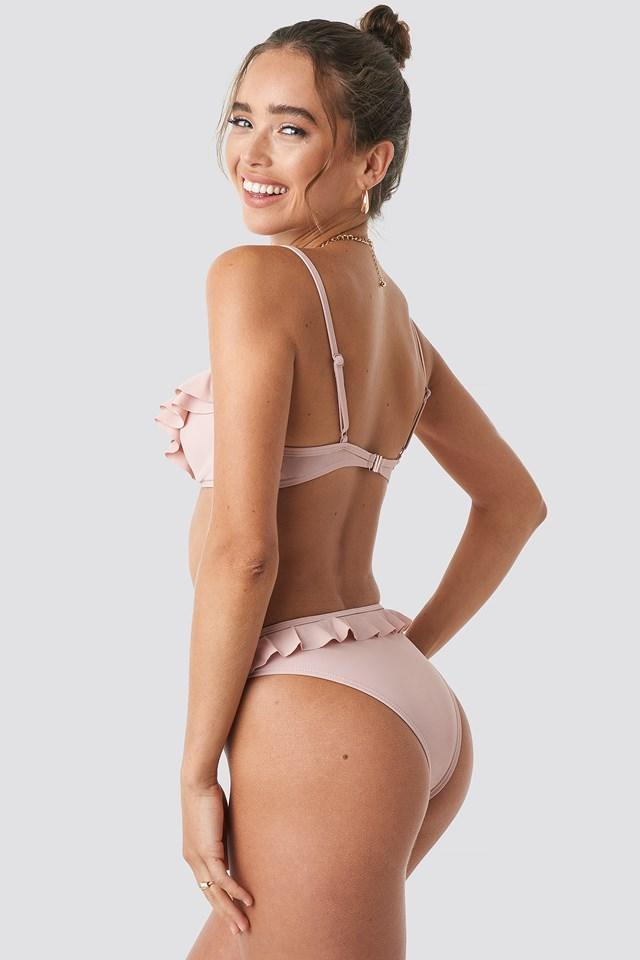 Ruffle Detail Bikini Bottom Blush