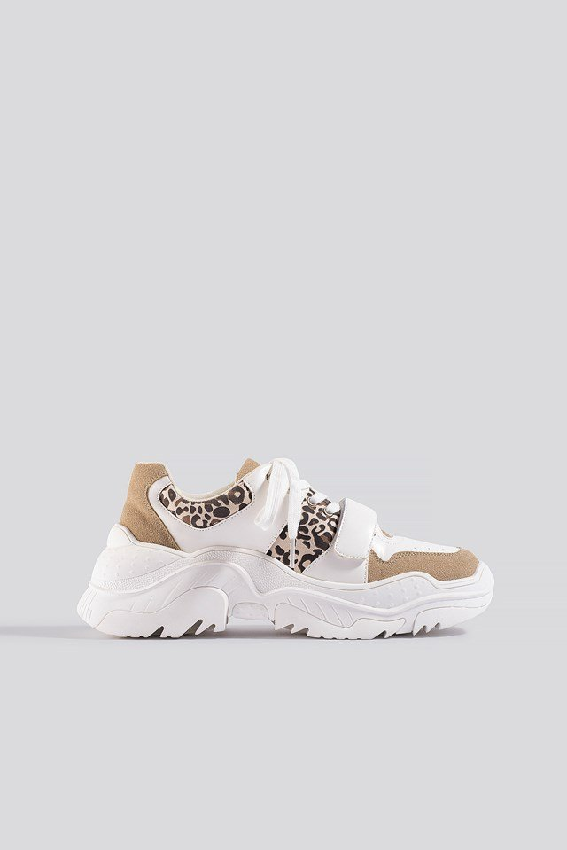 Chunky Burdock Detailed Sneakers White/Beige