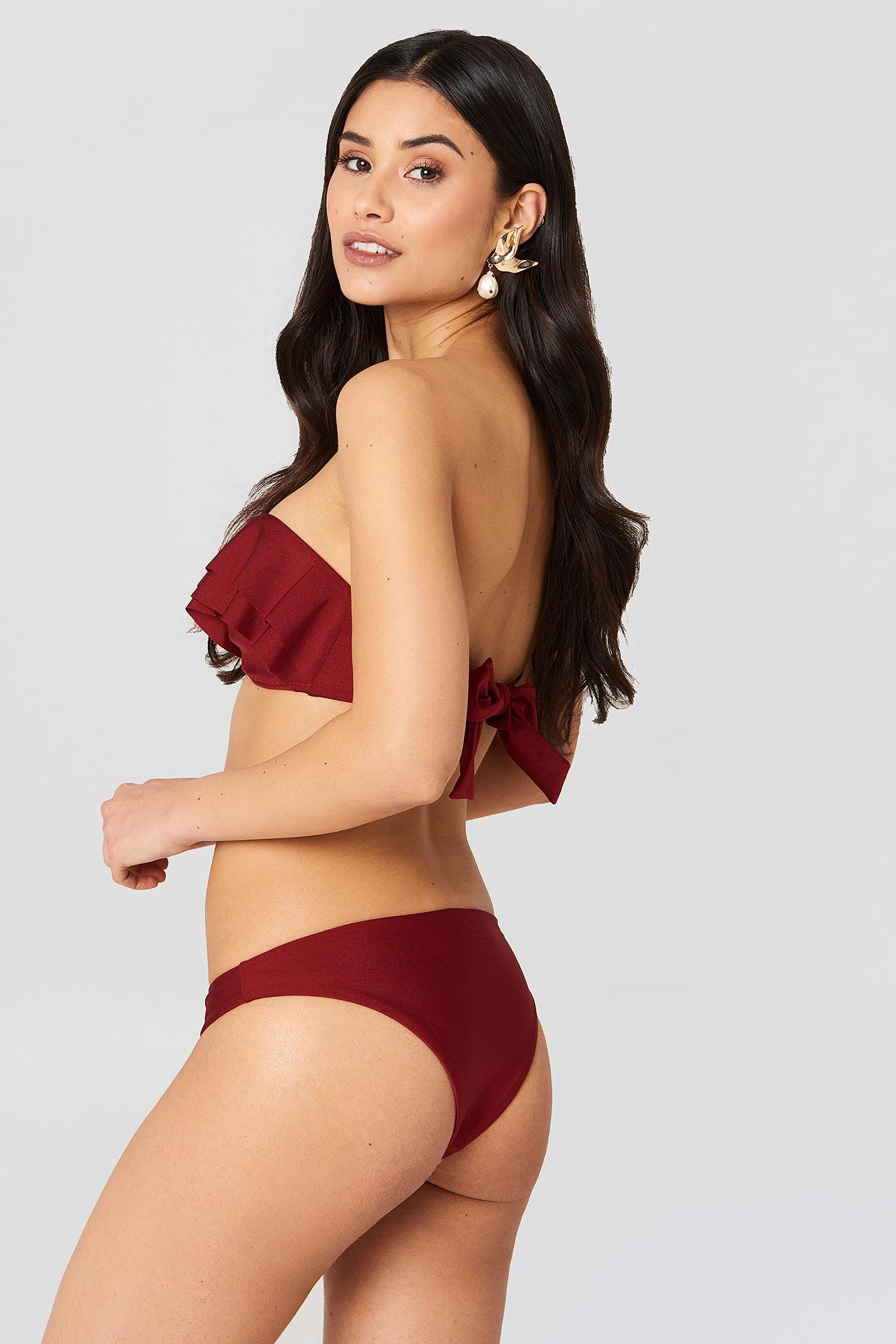 Double Flounce Bikini Top NA-KD.COM
