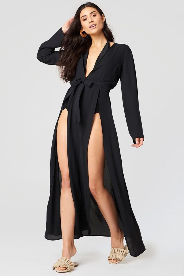 Double Front Slit Chiffon Dress NA-KD.COM