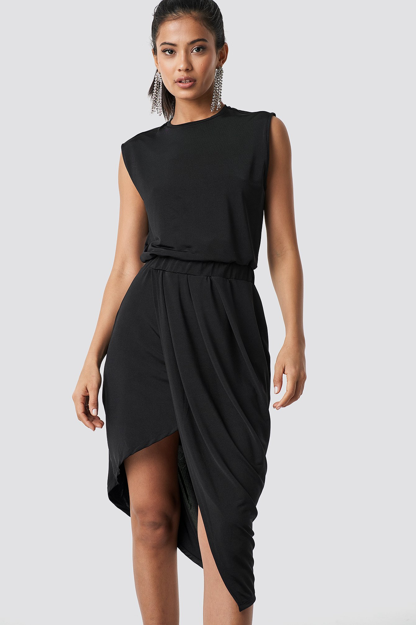 Draped Asymmetric Dress NA-KD.COM