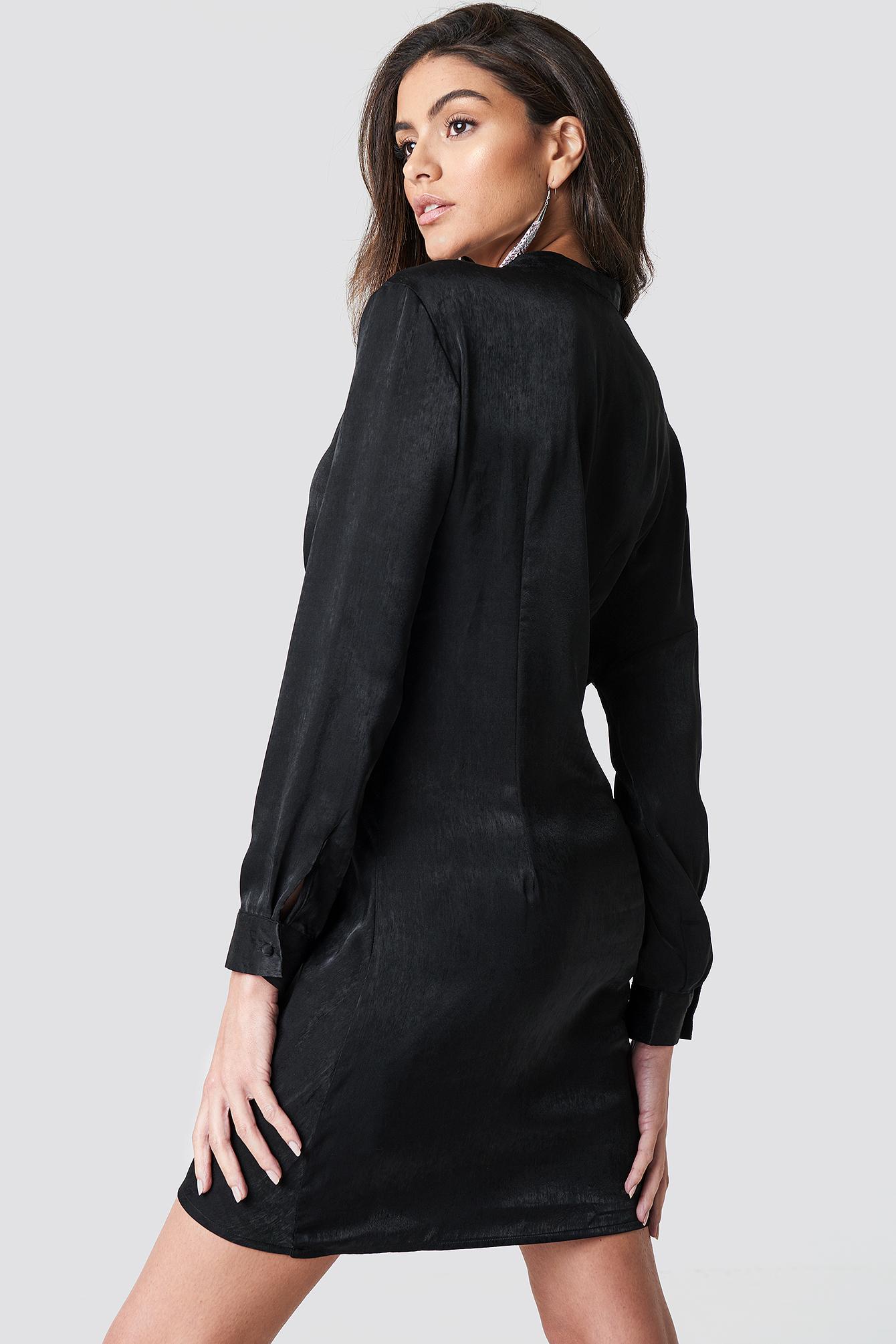 Draped Shirt Dress NA-KD.COM