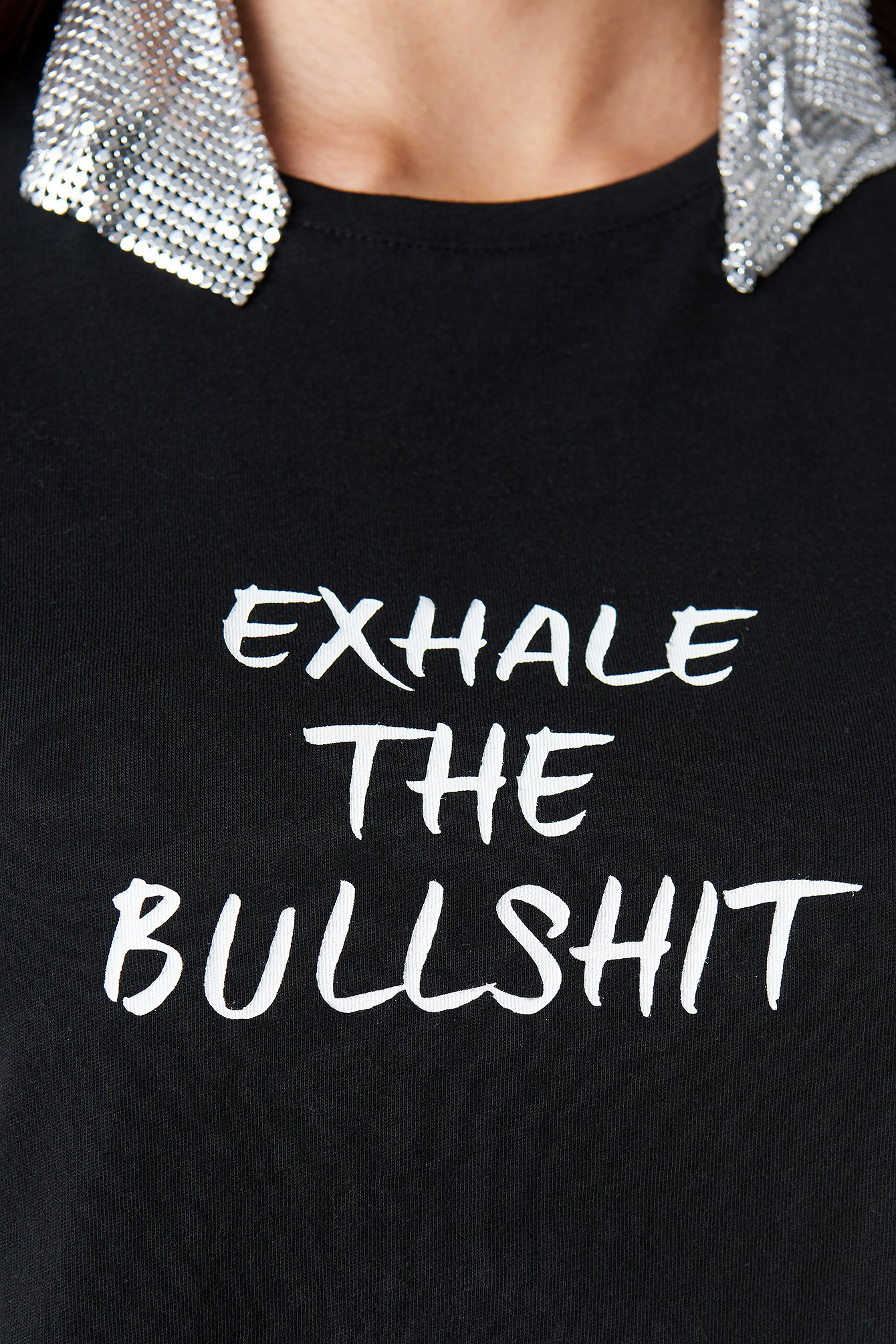Exhale The Bullshit Cropped Tee NA-KD.COM