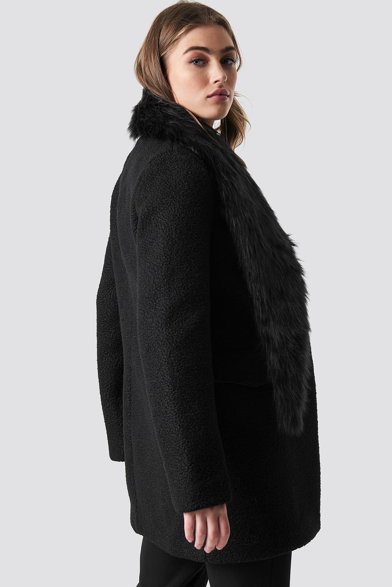 Faux Fur Collar Coat NA-KD.COM