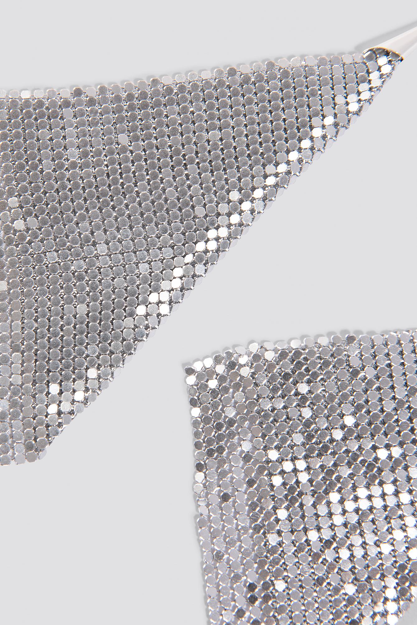 Kolczyki z metalowej siateczki NA-KD.COM