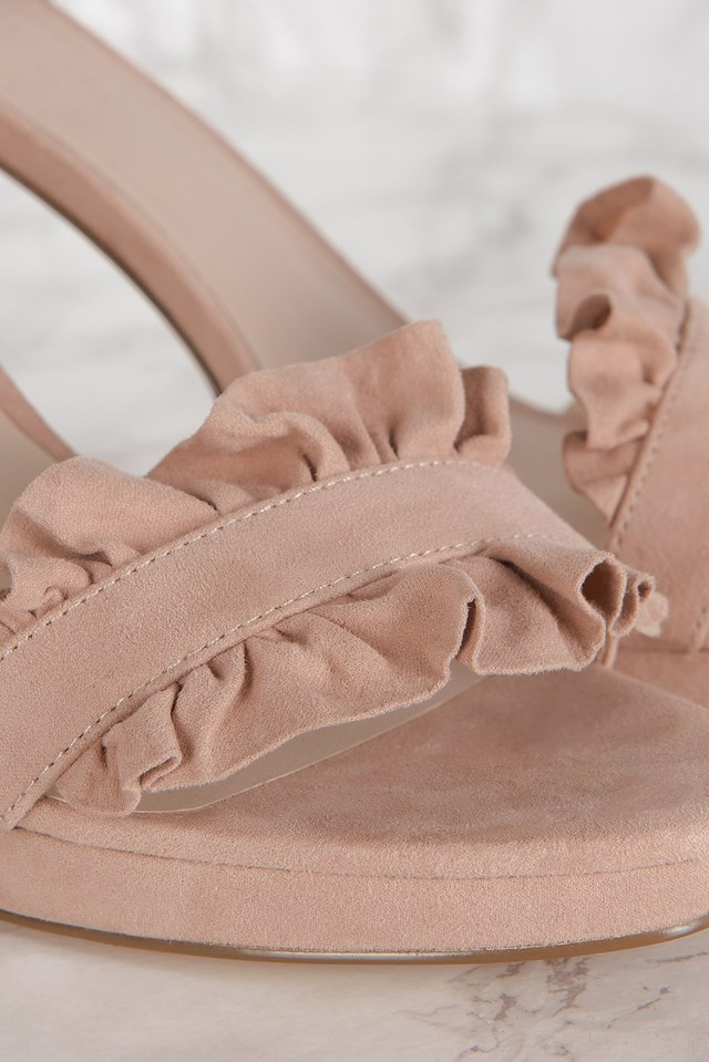 Heels With Frills Nude Pink