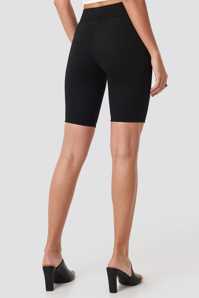 High Waist Slim Shorts Black