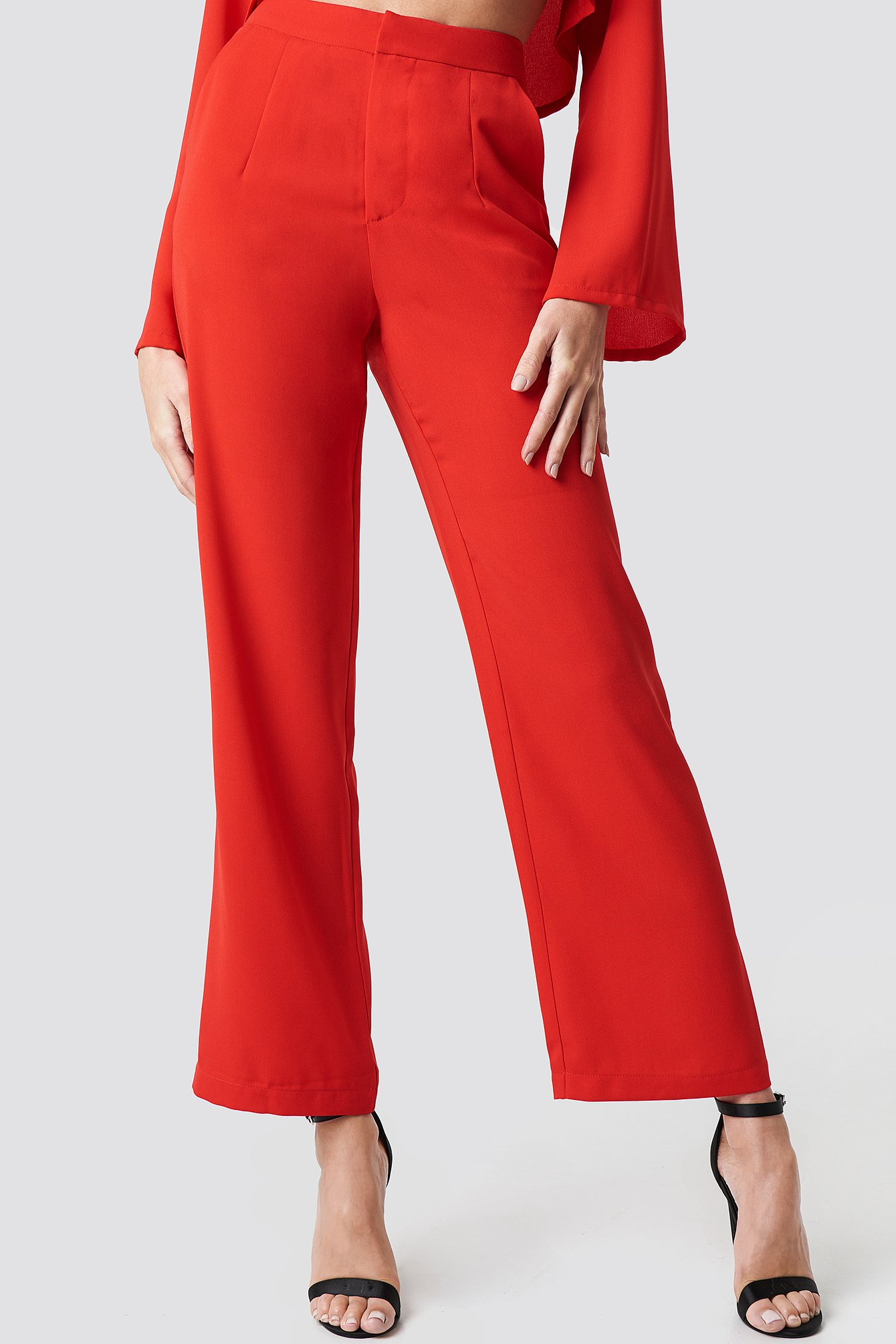 Highwaisted Straight Suit Pants NA-KD.COM