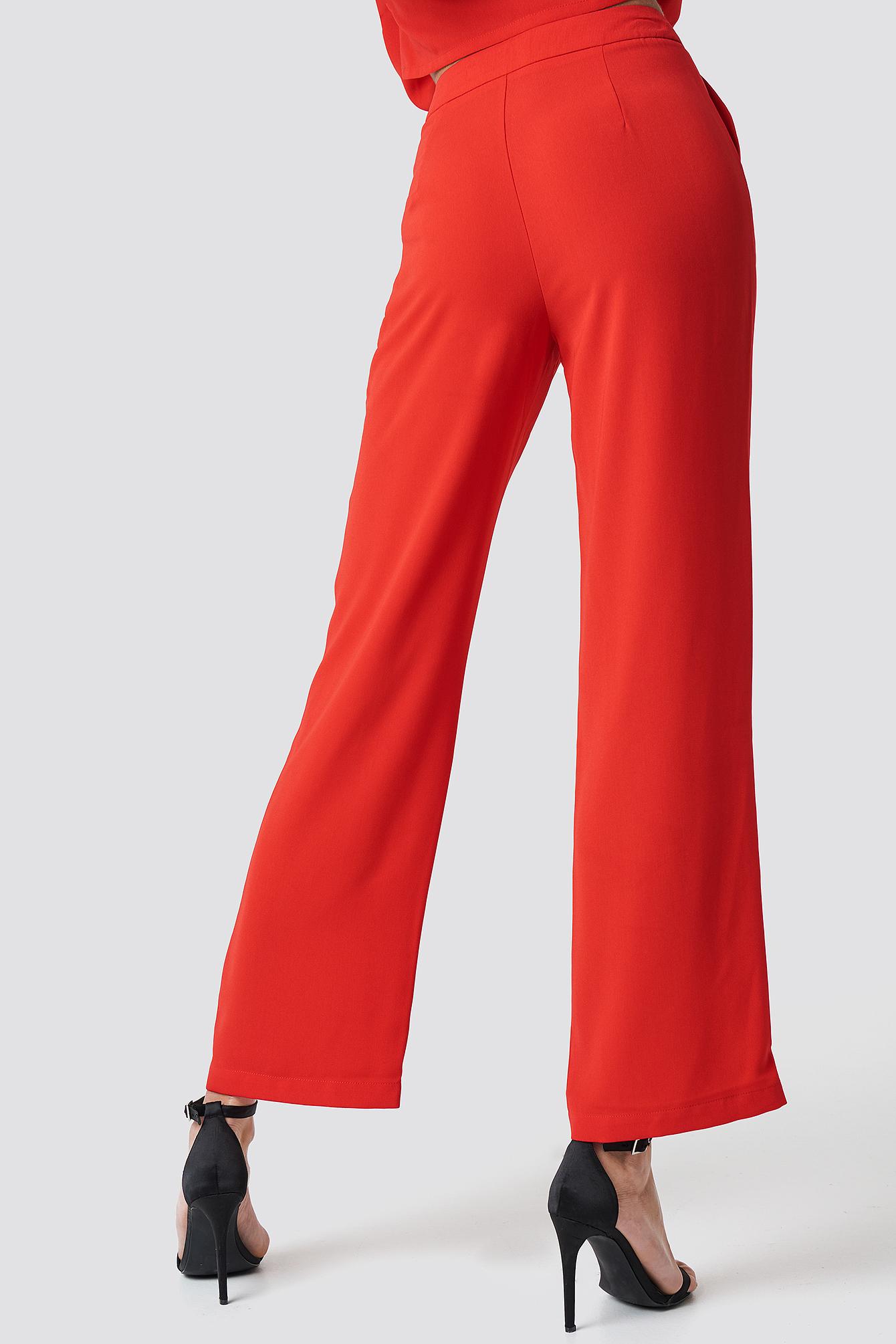 Spodnie garniturowe z wysokim stanem NA-KD.COM