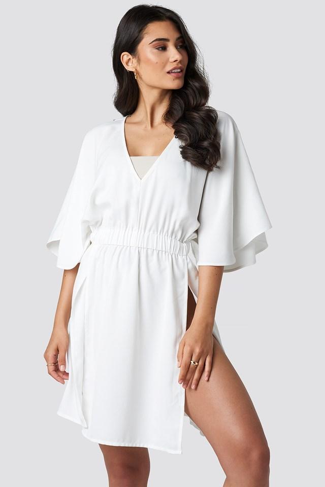 Kimono Sleeve Beach Dress White