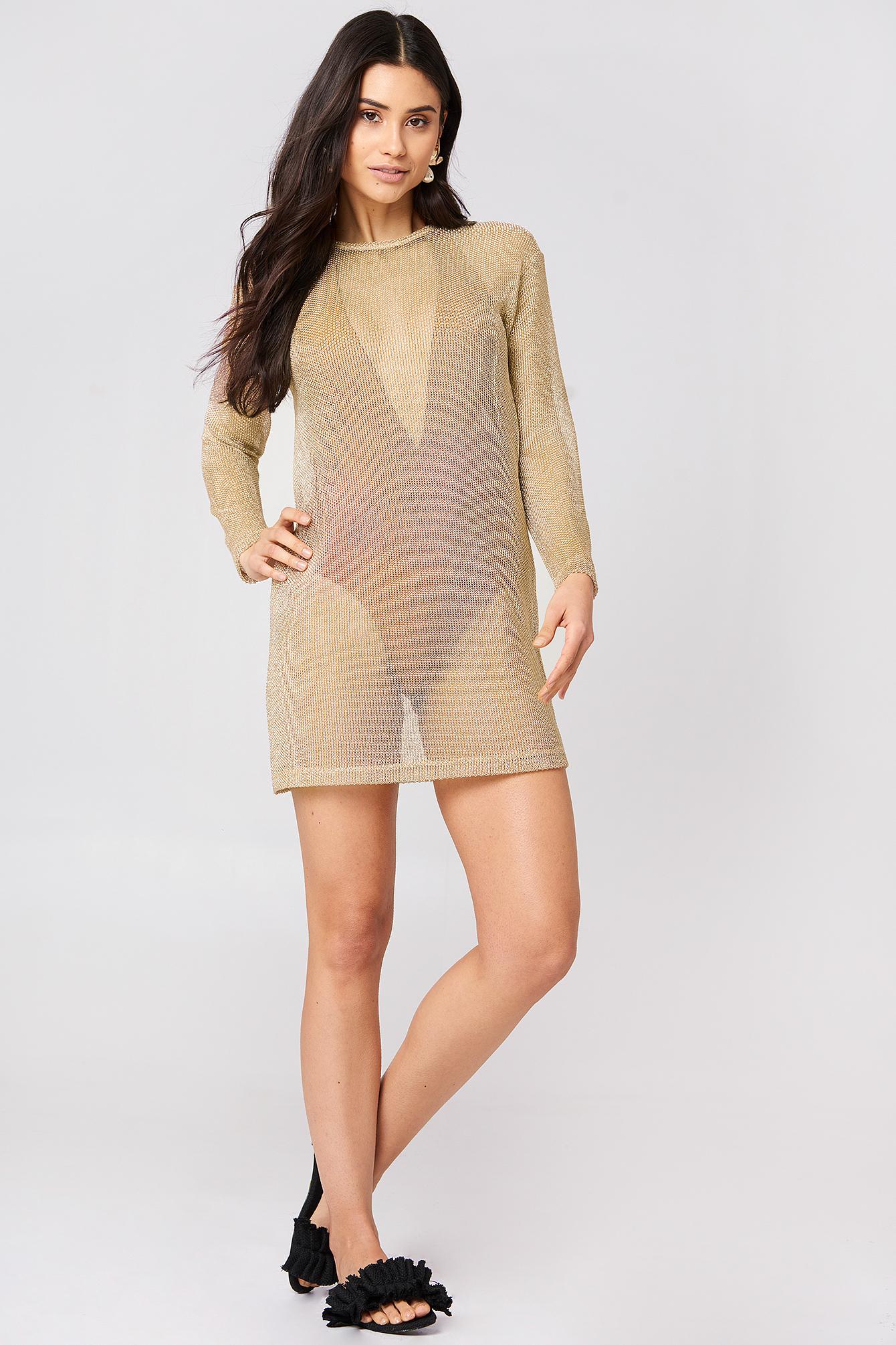 Metallic Dress NA-KD.COM