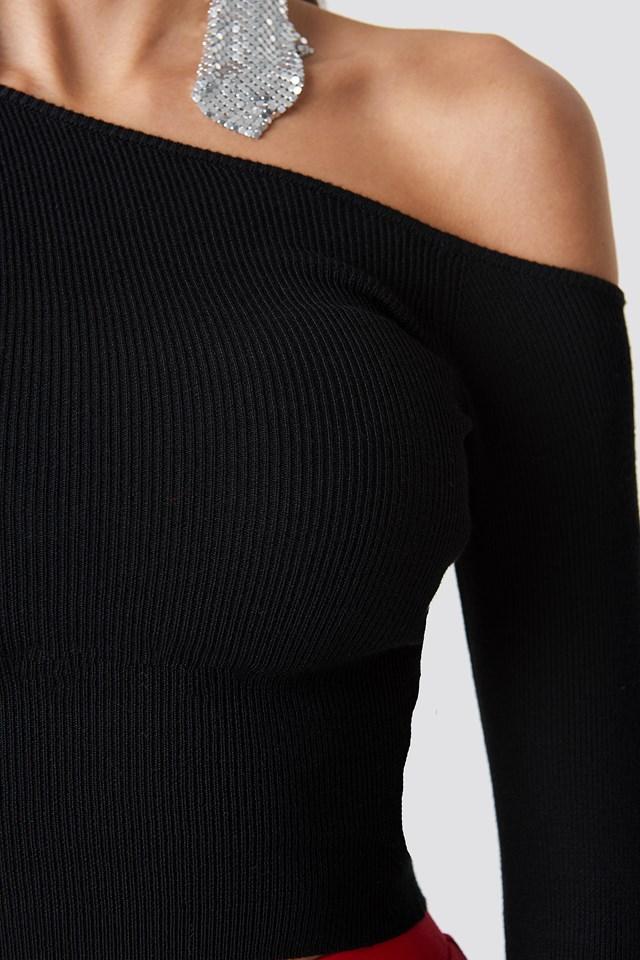 One Shoulder Cropped Knit NA-KD.COM