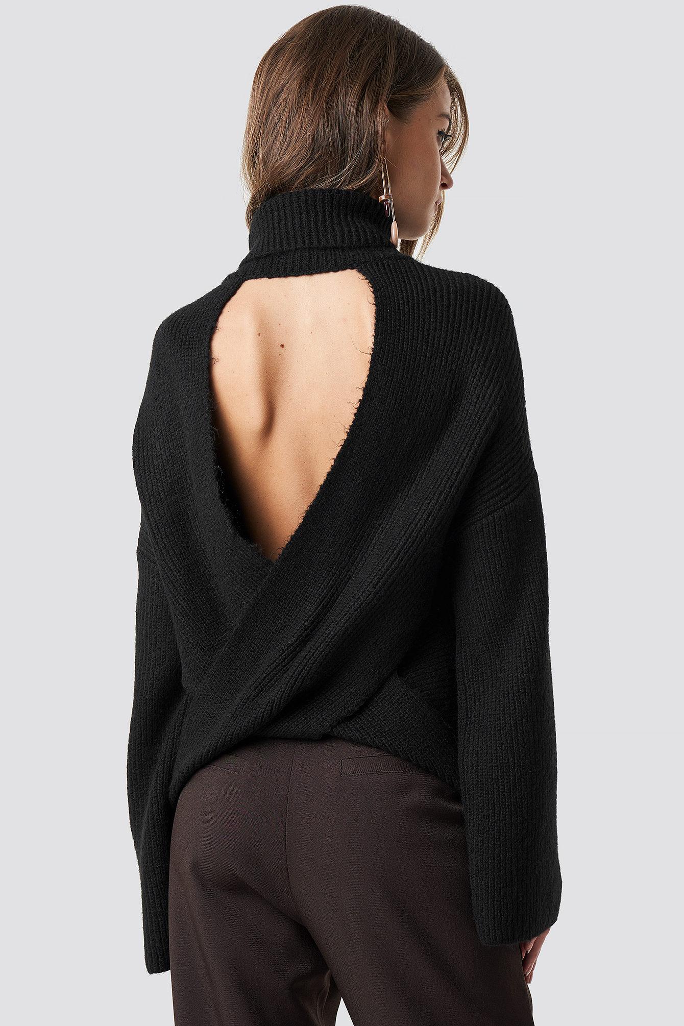 Open Back Overlap Sweater NA-KD.COM
