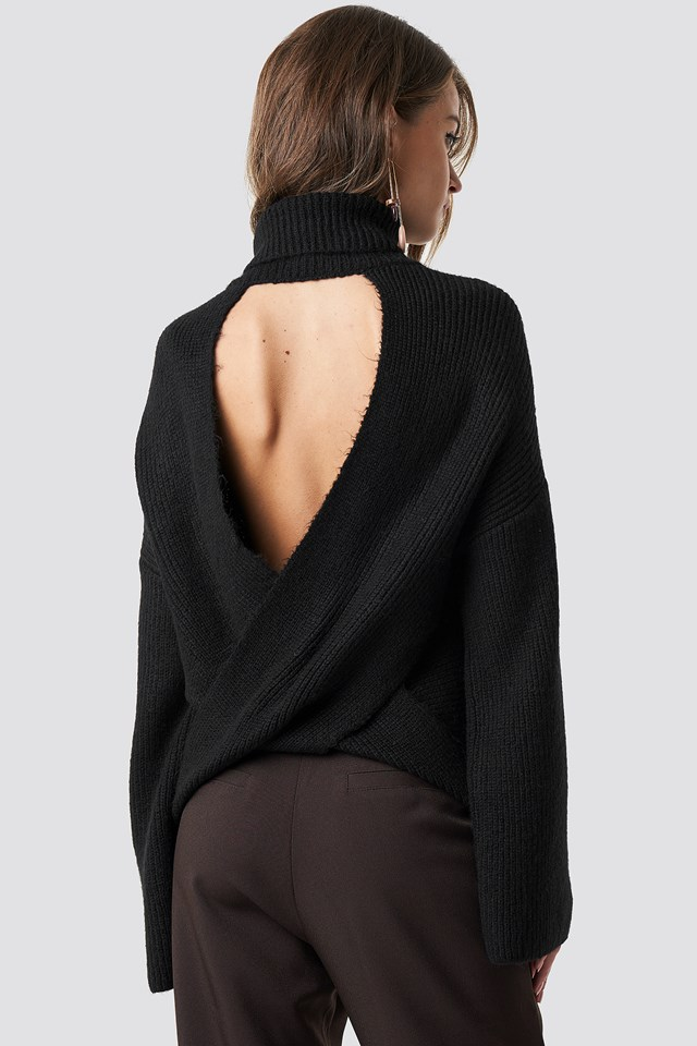 Open Back Overlap Sweater Hannalicious x NA-KD
