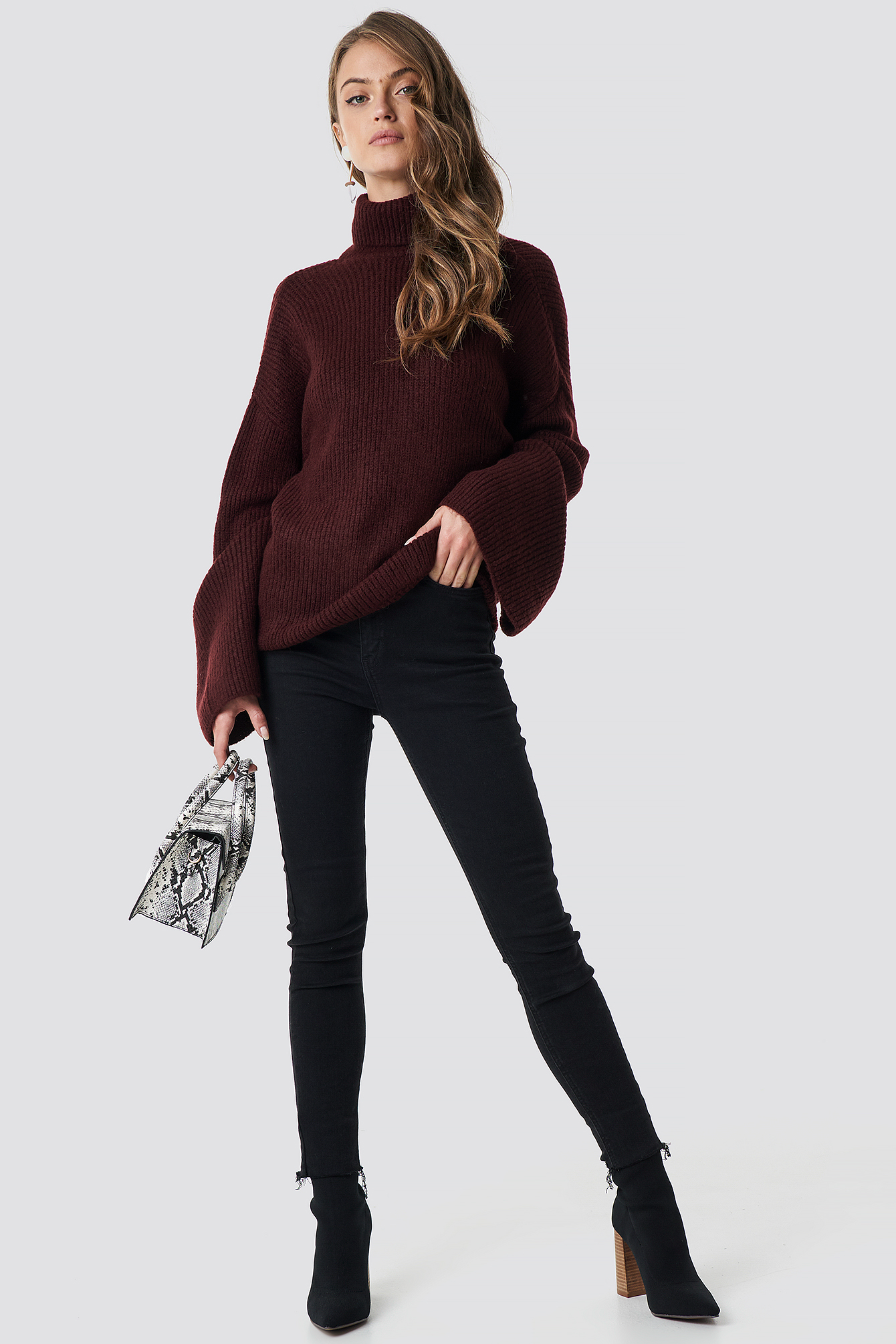 Open Back Overlap Sweater NA-KD.COM